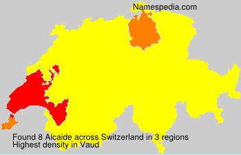 Surname Alcaide in Switzerland