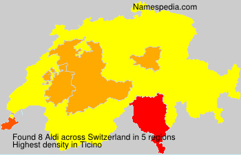 Surname Aldi in Switzerland