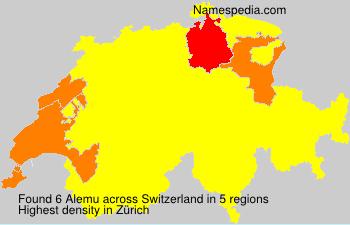 Surname Alemu in Switzerland