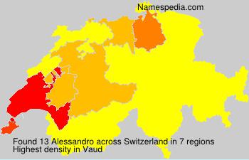 Surname Alessandro in Switzerland