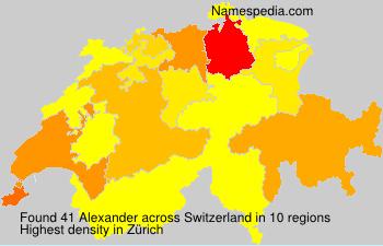 Surname Alexander in Switzerland