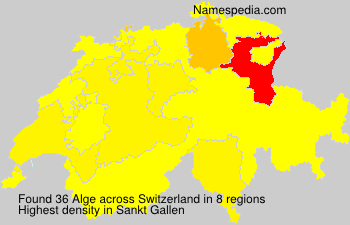 Surname Alge in Switzerland
