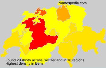 Surname Alioth in Switzerland