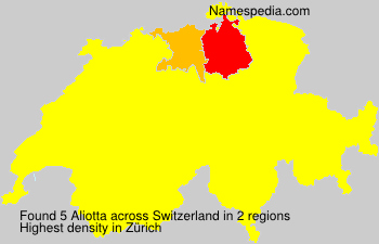 Surname Aliotta in Switzerland