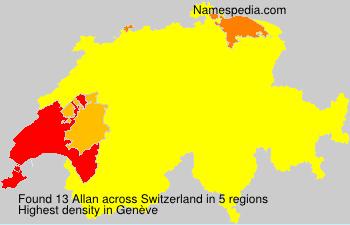 Surname Allan in Switzerland