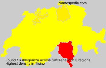 Surname Allegranza in Switzerland