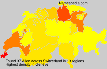 Surname Allen in Switzerland
