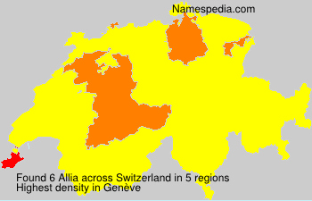 Surname Allia in Switzerland