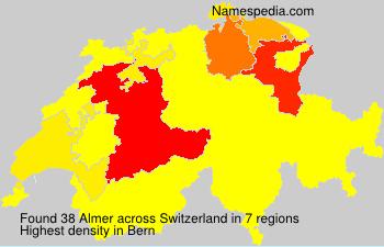 Surname Almer in Switzerland