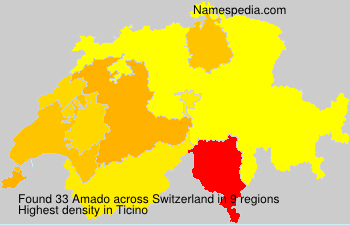 Surname Amado in Switzerland