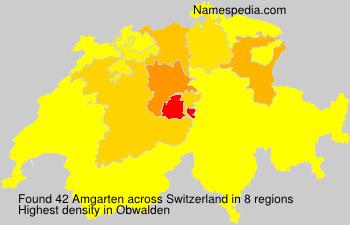 Familiennamen Amgarten - Switzerland