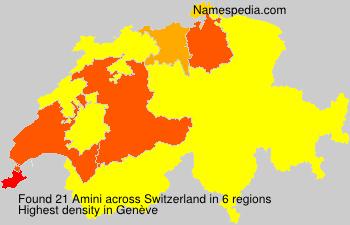 Surname Amini in Switzerland