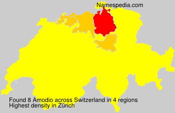 Surname Amodio in Switzerland