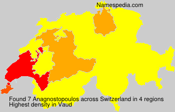 Surname Anagnostopoulos in Switzerland