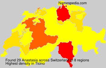 Surname Anastasia in Switzerland
