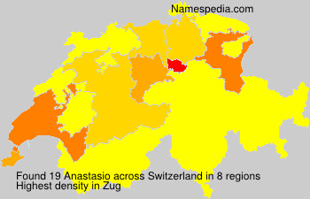 Surname Anastasio in Switzerland