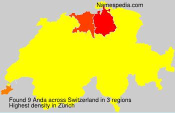Surname Anda in Switzerland