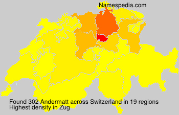 Surname Andermatt in Switzerland