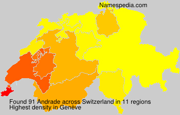 Surname Andrade in Switzerland