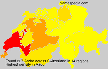 Surname Andre in Switzerland