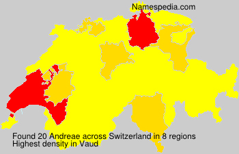 Surname Andreae in Switzerland