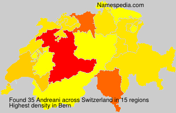 Surname Andreani in Switzerland