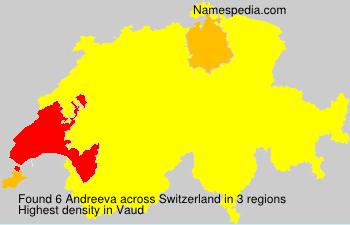 Surname Andreeva in Switzerland