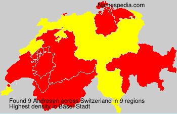 Surname Andresen in Switzerland