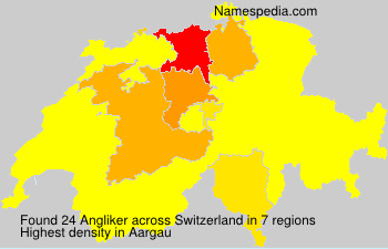Surname Angliker in Switzerland