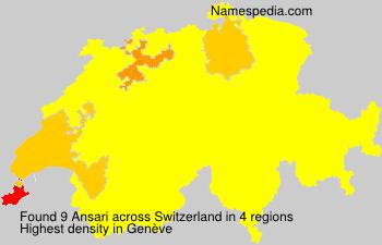 Familiennamen Ansari - Switzerland