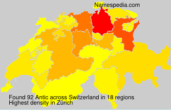 Surname Antic in Switzerland