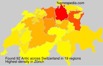 Surname Antic in Switzerland