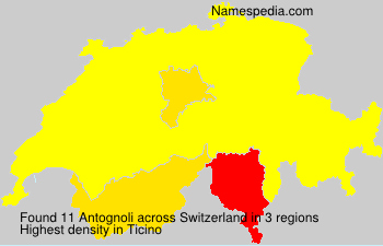Surname Antognoli in Switzerland