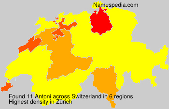 Surname Antoni in Switzerland