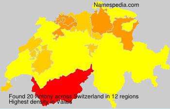 Surname Antony in Switzerland