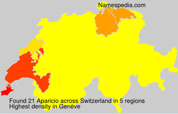 Surname Aparicio in Switzerland