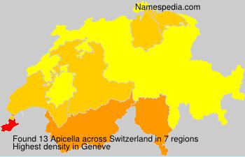 Surname Apicella in Switzerland