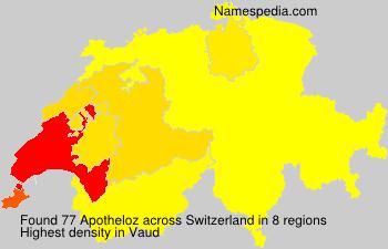 Surname Apotheloz in Switzerland