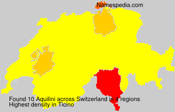 Surname Aquilini in Switzerland