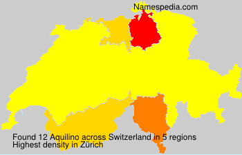 Surname Aquilino in Switzerland