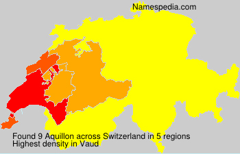 Surname Aquillon in Switzerland
