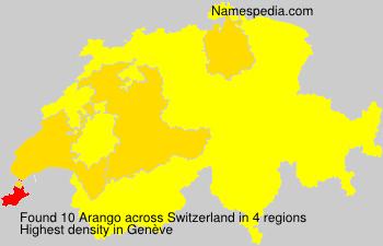 Surname Arango in Switzerland