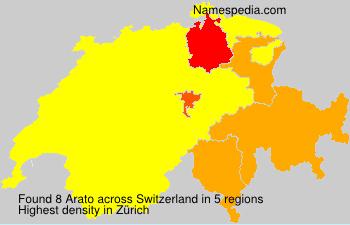 Surname Arato in Switzerland