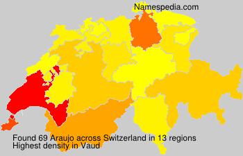 Familiennamen Araujo - Switzerland