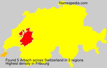 Surname Arbach in Switzerland