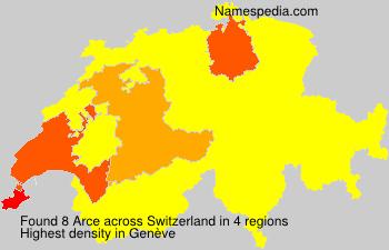 Surname Arce in Switzerland