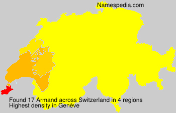 Surname Armand in Switzerland