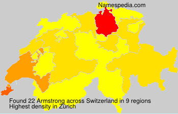 Surname Armstrong in Switzerland