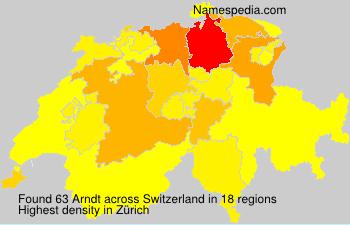 Surname Arndt in Switzerland