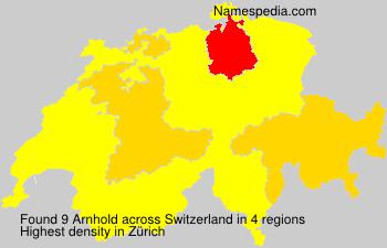 Surname Arnhold in Switzerland